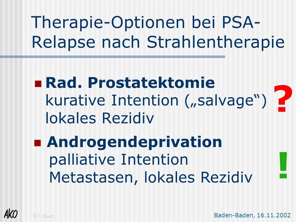 Therapie-Optionen bei PSA-Relapse nach Strahlentherapie