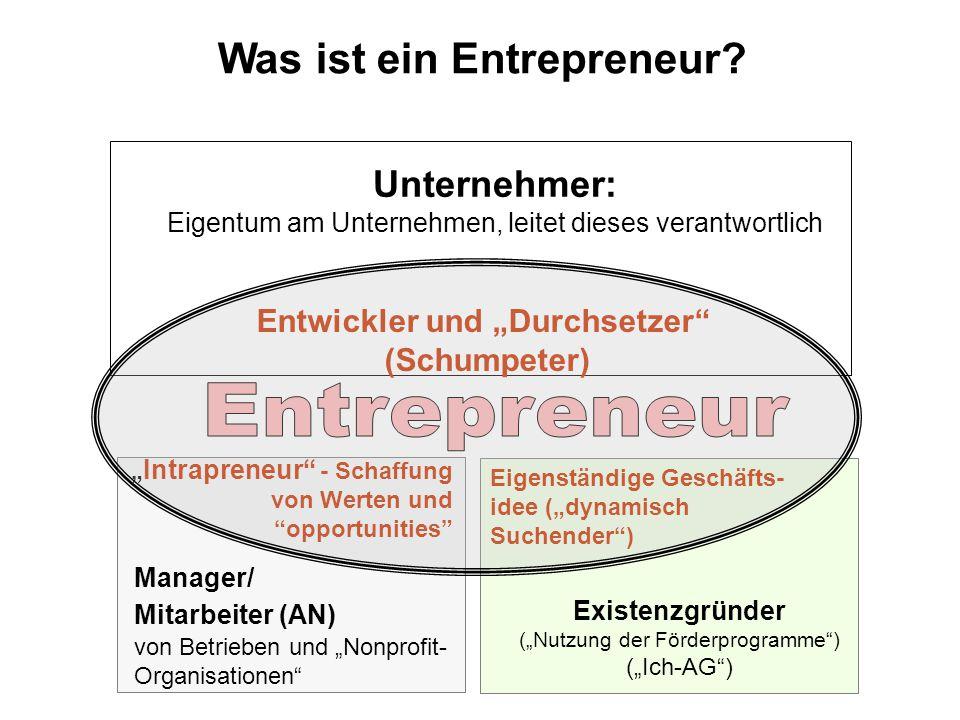 """Was ist ein Entrepreneur Entwickler und """"Durchsetzer"""