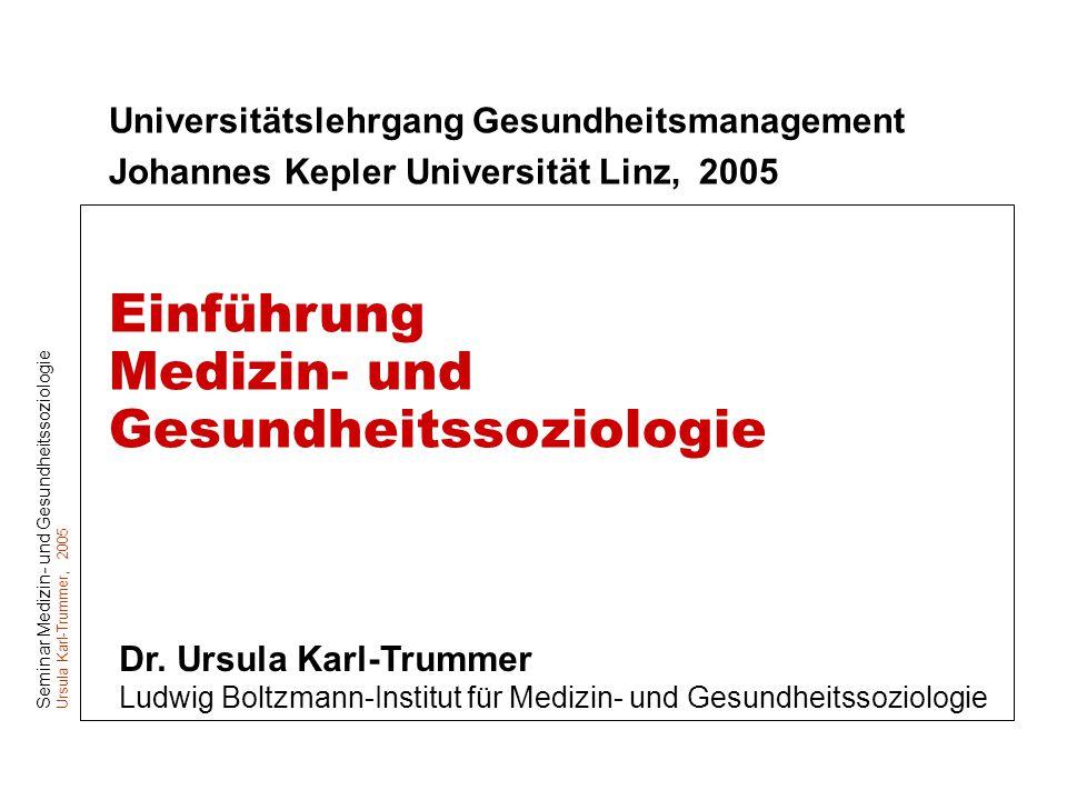 Medizin- und Gesundheitssoziologie
