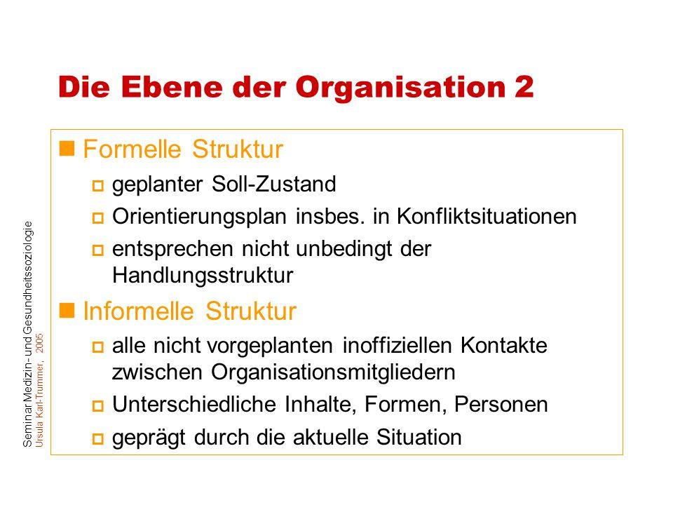 Die Ebene der Organisation 2