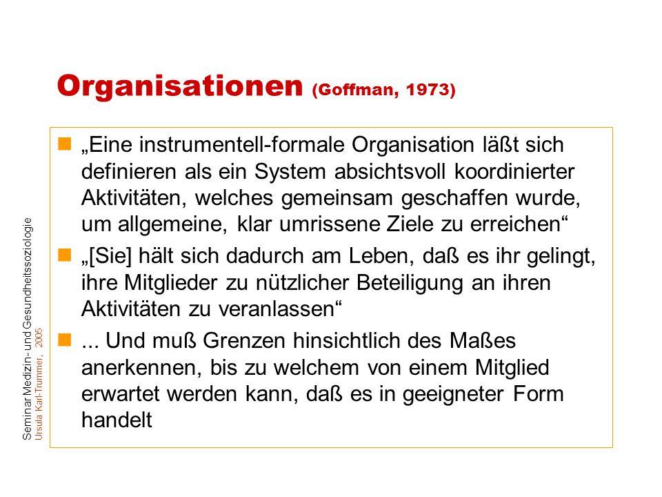 Organisationen (Goffman, 1973)