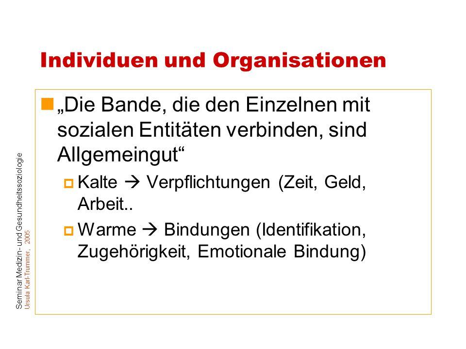 Individuen und Organisationen