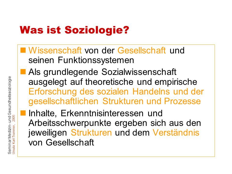 Was ist Soziologie Wissenschaft von der Gesellschaft und seinen Funktionssystemen.