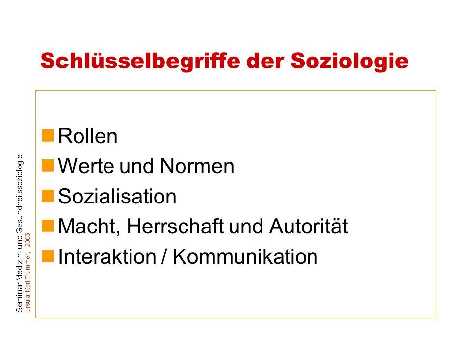 Schlüsselbegriffe der Soziologie