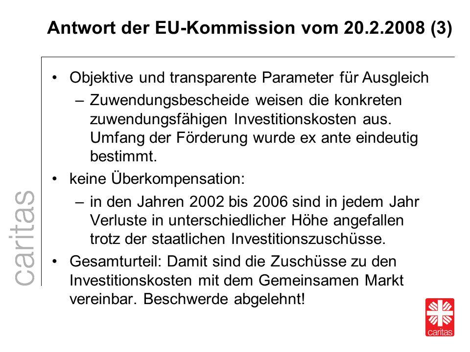 Antwort der EU-Kommission vom 20.2.2008 (3)
