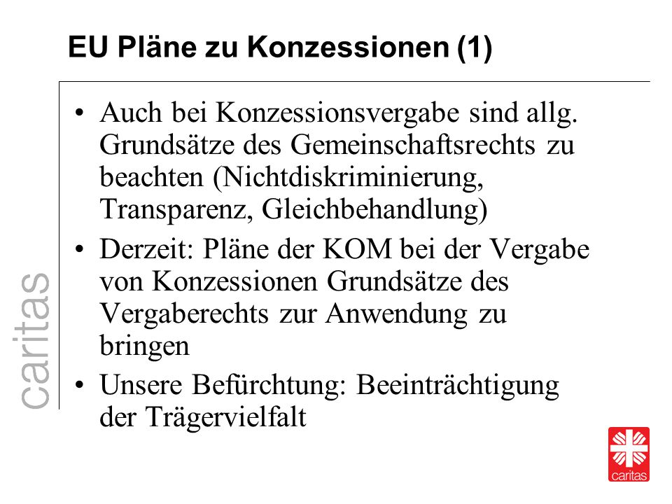 EU Pläne zu Konzessionen (1)