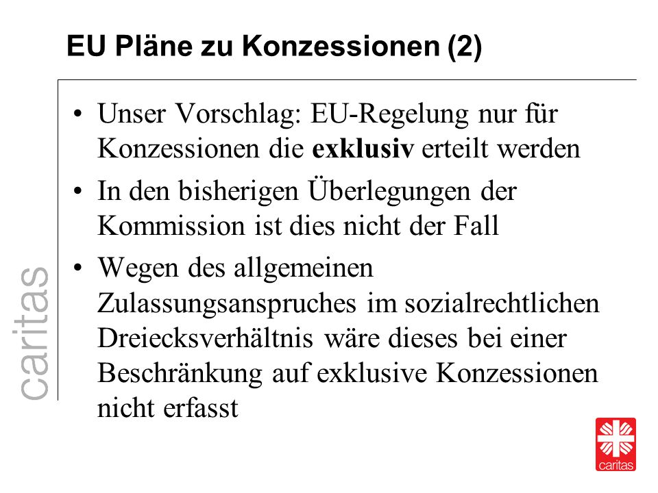 EU Pläne zu Konzessionen (2)