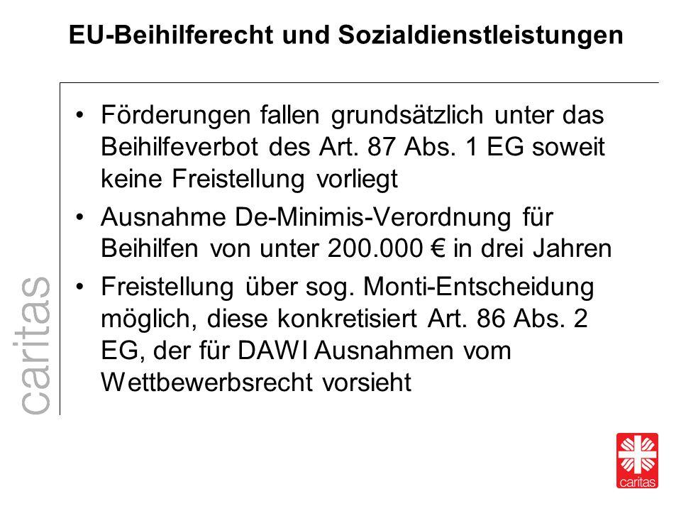 EU-Beihilferecht und Sozialdienstleistungen