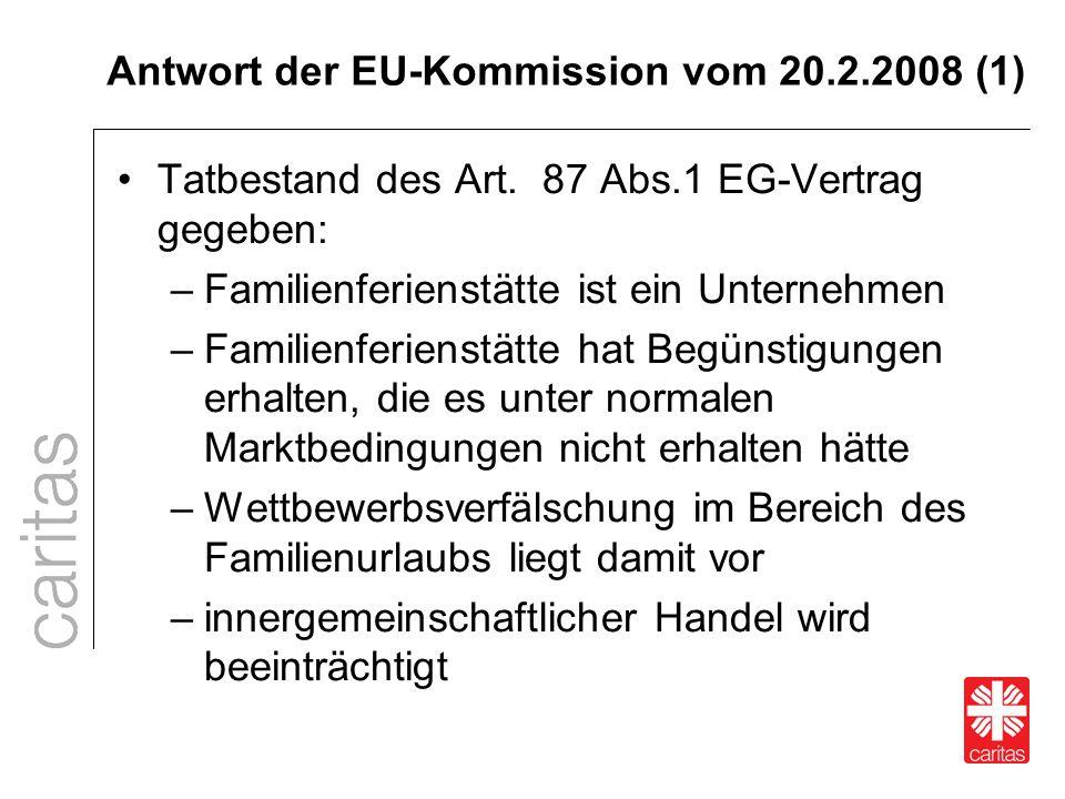Antwort der EU-Kommission vom 20.2.2008 (1)