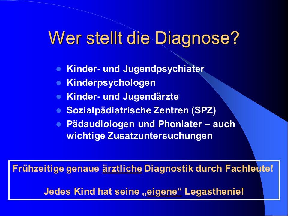 Wer stellt die Diagnose