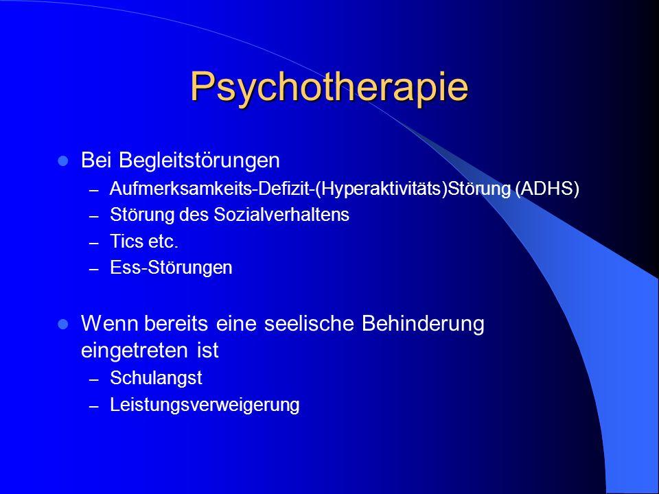 Psychotherapie Bei Begleitstörungen