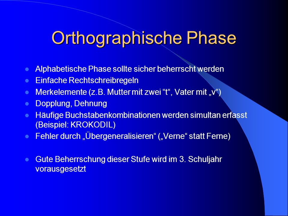 Orthographische Phase