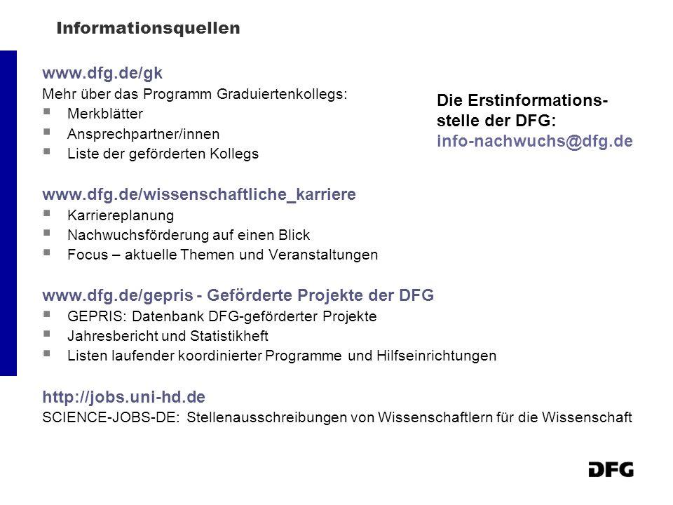 www.dfg.de/gepris - Geförderte Projekte der DFG