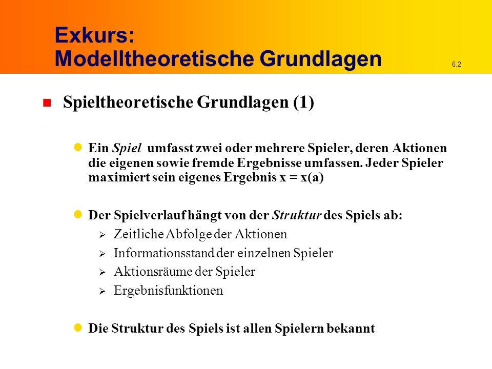 Exkurs: Modelltheoretische Grundlagen