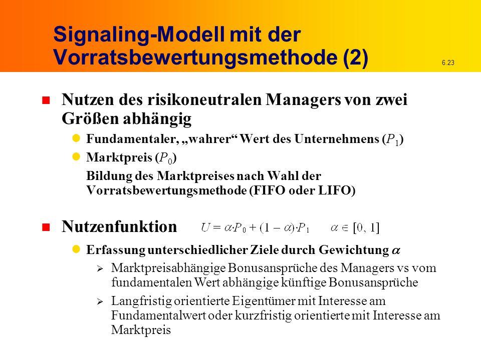 Signaling-Modell mit der Vorratsbewertungsmethode (2)