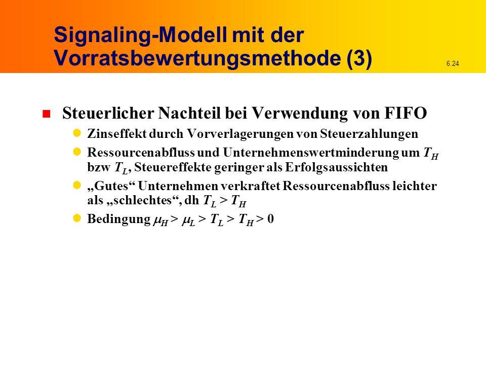 Signaling-Modell mit der Vorratsbewertungsmethode (3)