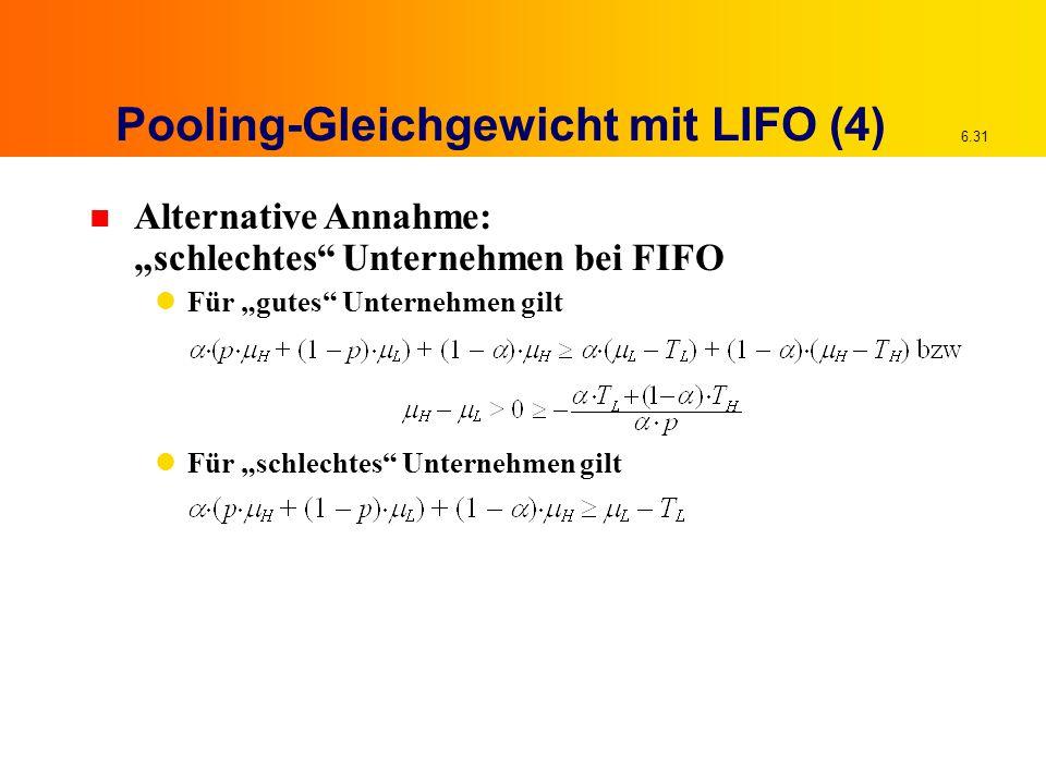 Pooling-Gleichgewicht mit LIFO (4)