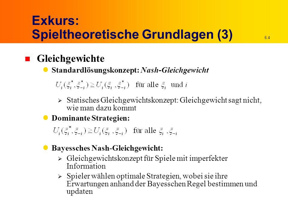 Exkurs: Spieltheoretische Grundlagen (3)