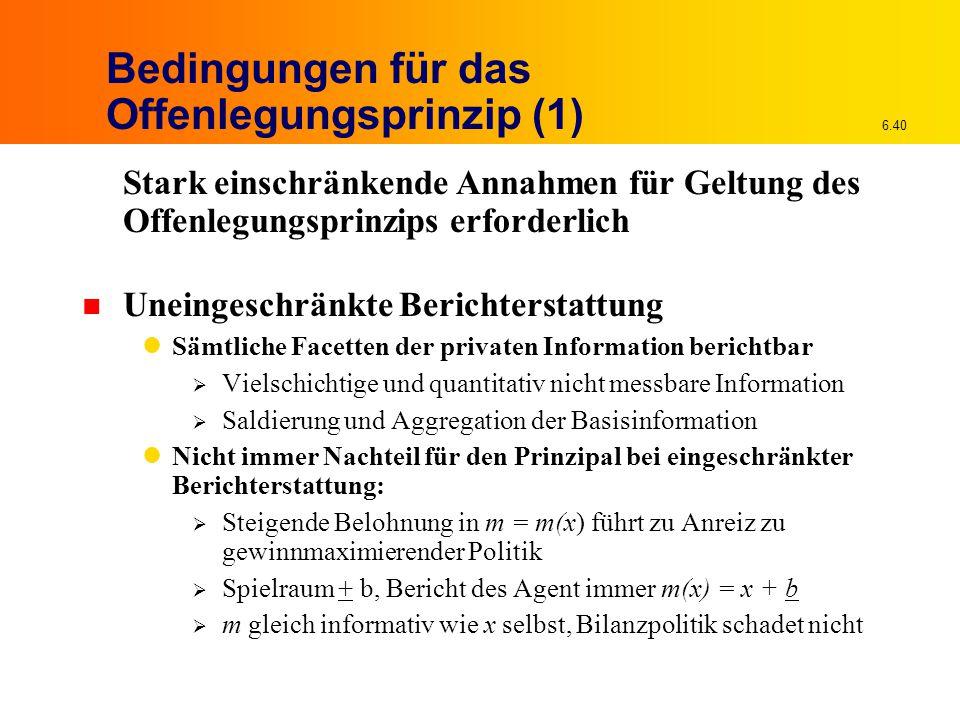 Bedingungen für das Offenlegungsprinzip (1)