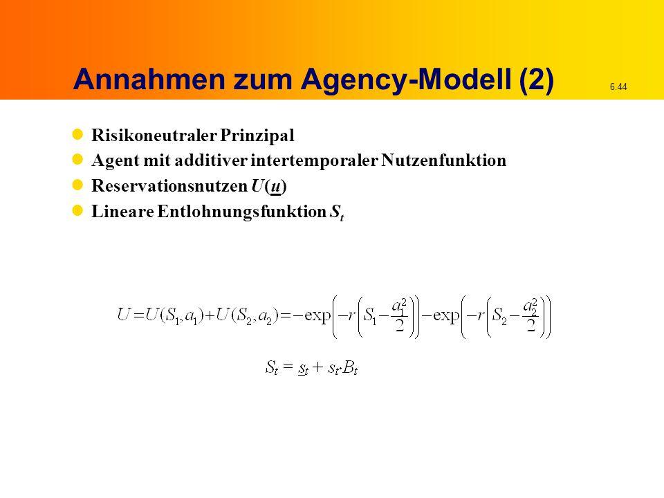 Annahmen zum Agency-Modell (2)