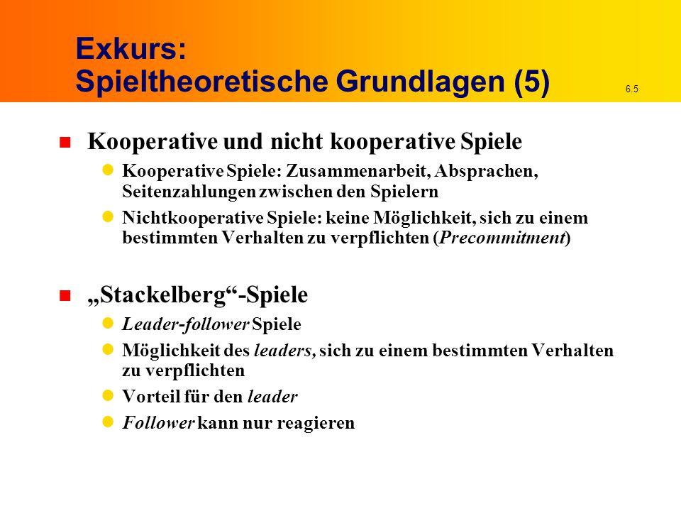 Exkurs: Spieltheoretische Grundlagen (5)