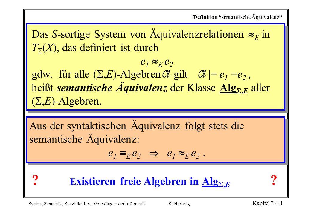 Existieren freie Algebren in Alg,E