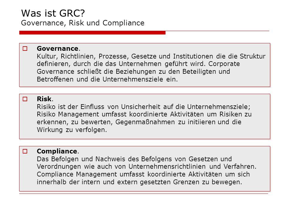Was ist GRC Governance, Risk und Compliance