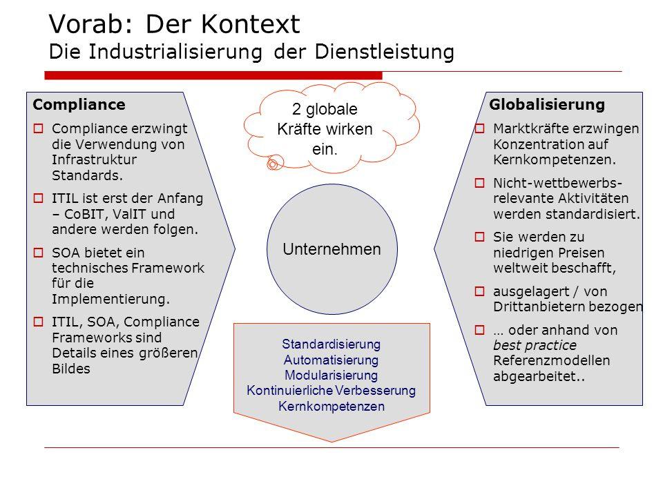 Vorab: Der Kontext Die Industrialisierung der Dienstleistung