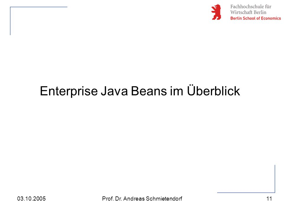Enterprise Java Beans im Überblick