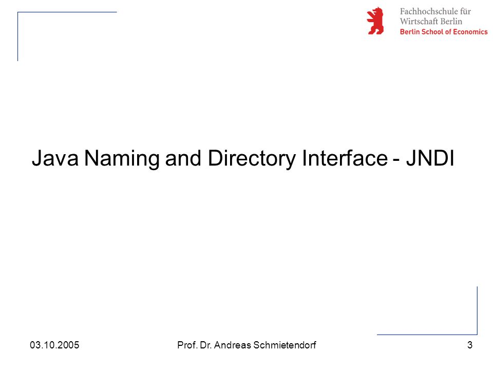 Java Naming and Directory Interface - JNDI
