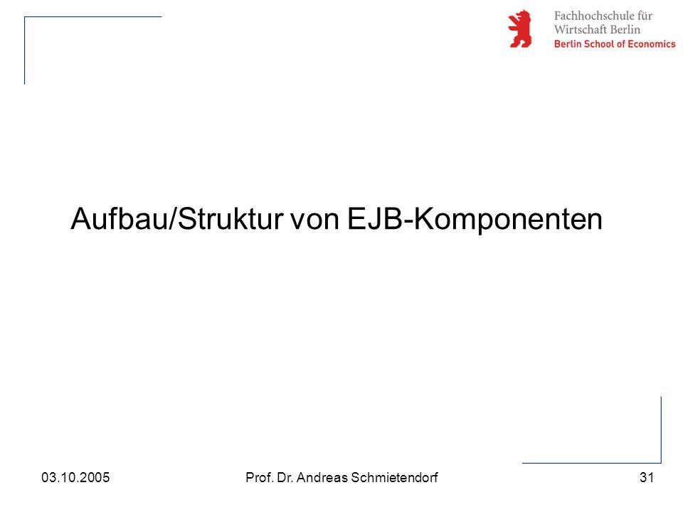 Aufbau/Struktur von EJB-Komponenten