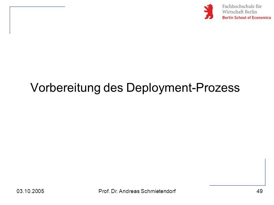 Vorbereitung des Deployment-Prozess