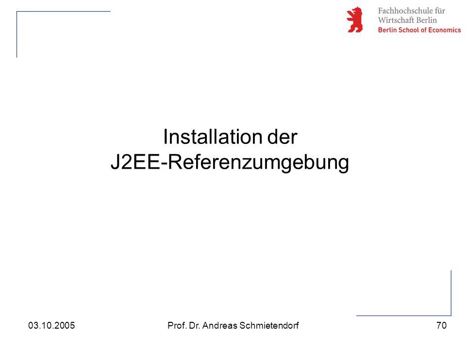 Installation der J2EE-Referenzumgebung