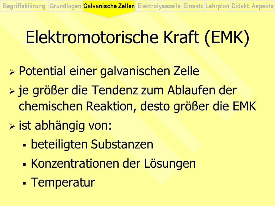 Elektromotorische Kraft (EMK)