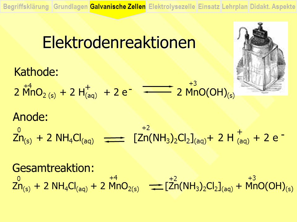 Elektrodenreaktionen