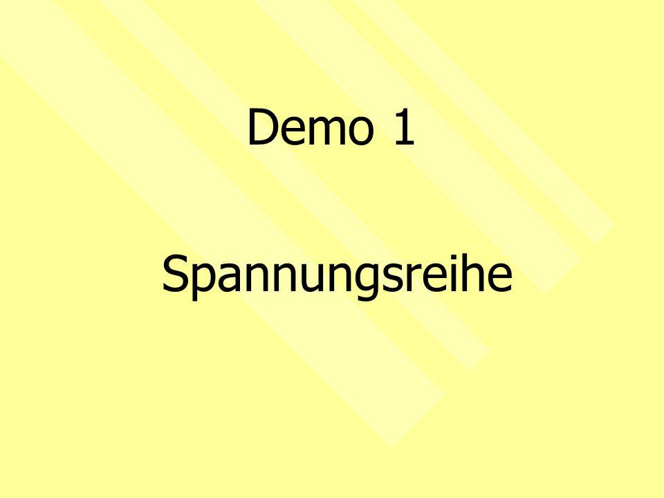 Demo 1 Spannungsreihe