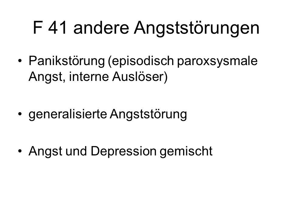 F 41 andere Angststörungen