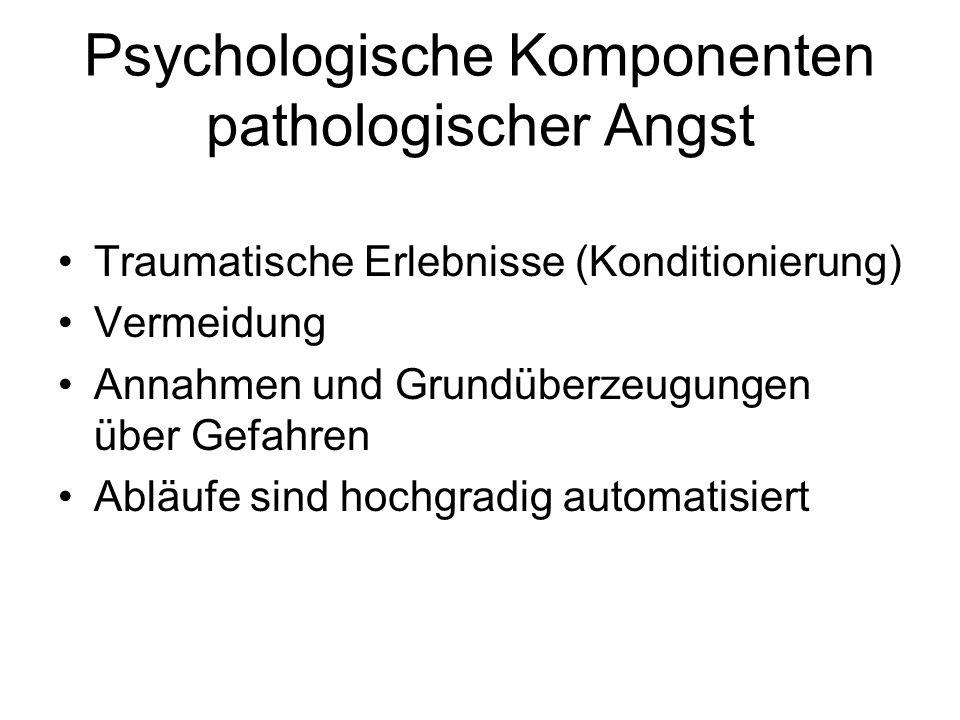 Psychologische Komponenten pathologischer Angst