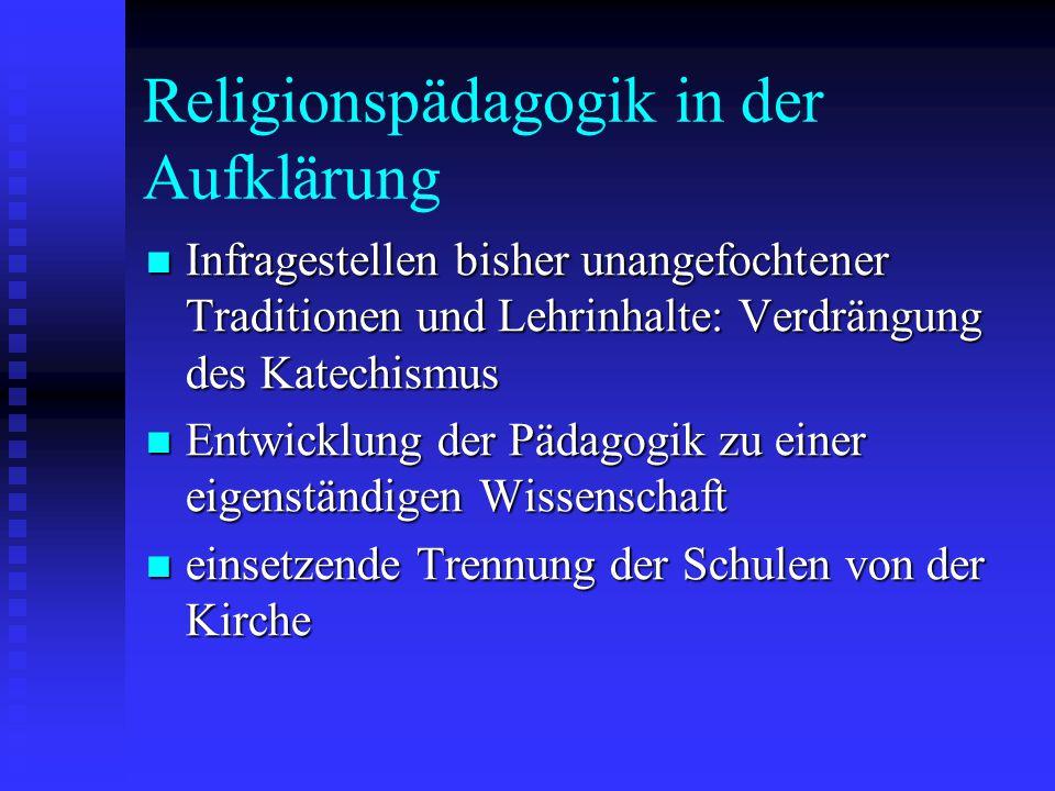 Religionspädagogik in der Aufklärung