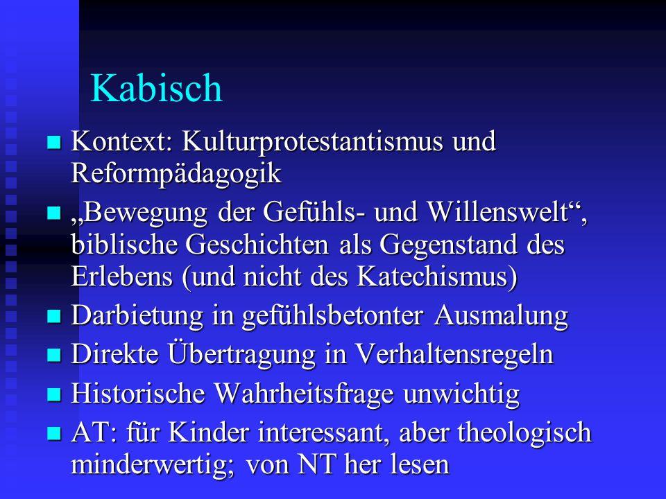 Kabisch Kontext: Kulturprotestantismus und Reformpädagogik