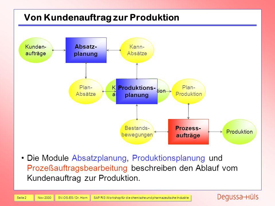 Von Kundenauftrag zur Produktion