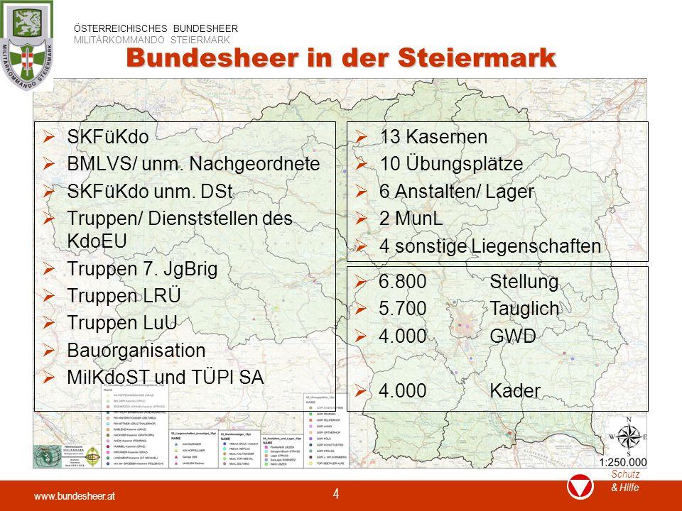 Bundesheer in der Steiermark