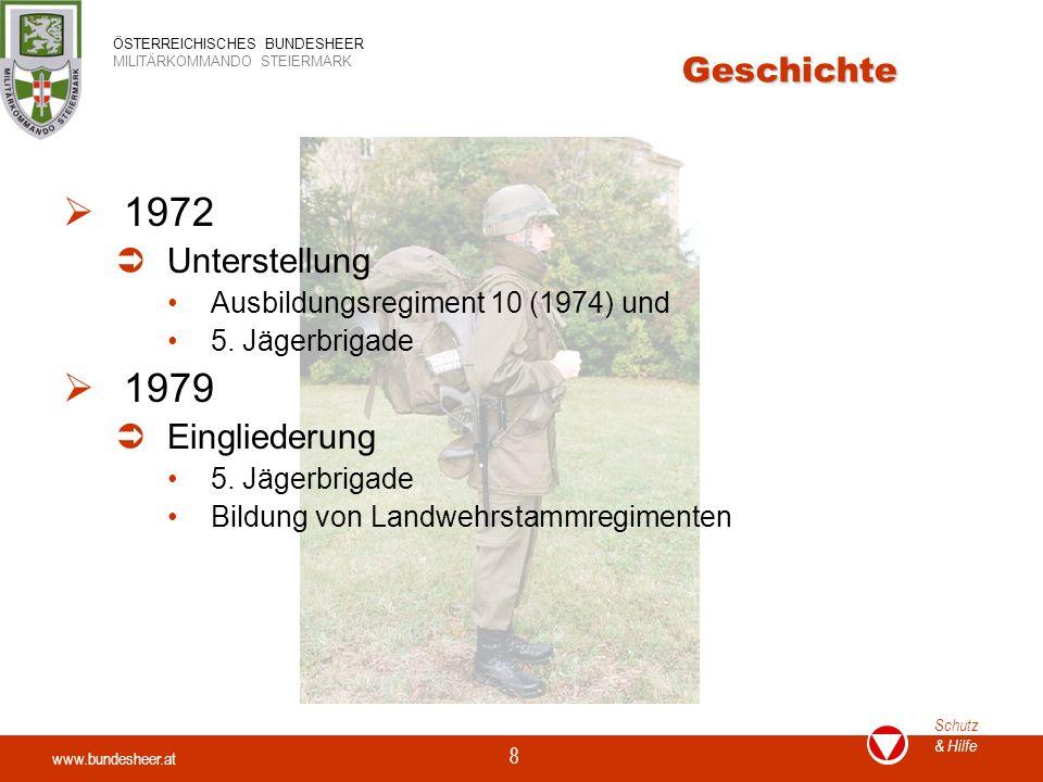 1972 1979 Geschichte Unterstellung Eingliederung