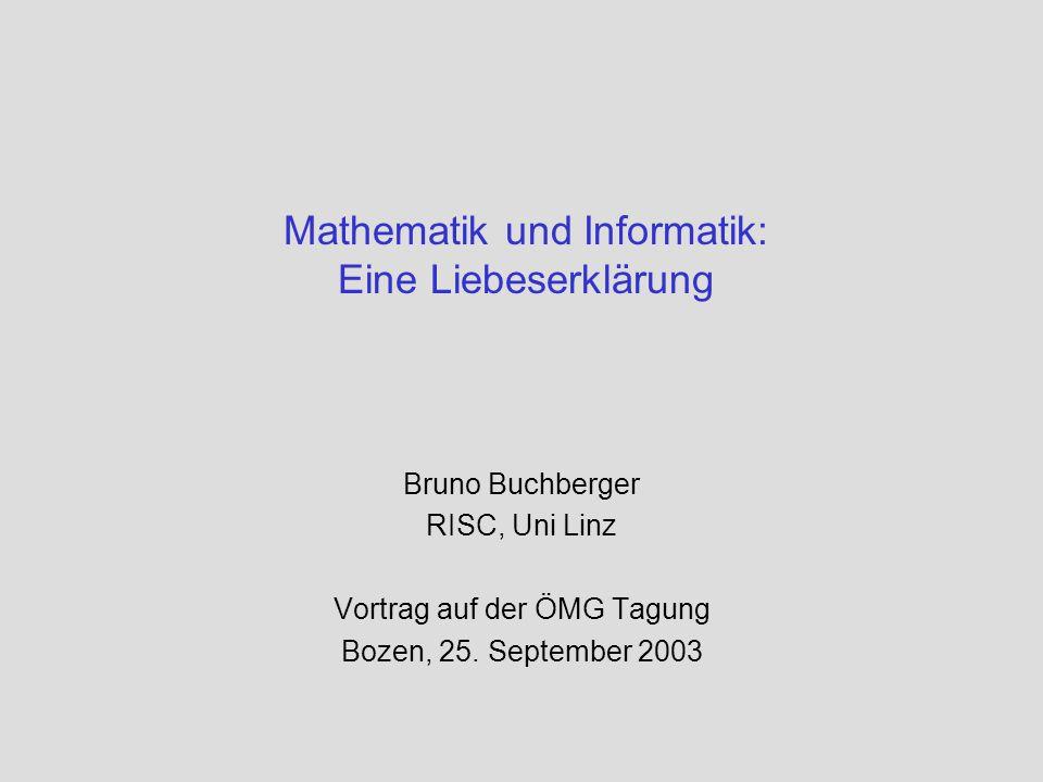 Mathematik und Informatik: Eine Liebeserklärung