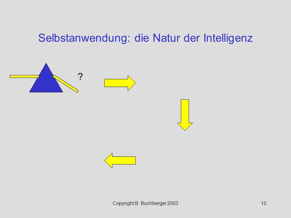 Selbstanwendung: die Natur der Intelligenz