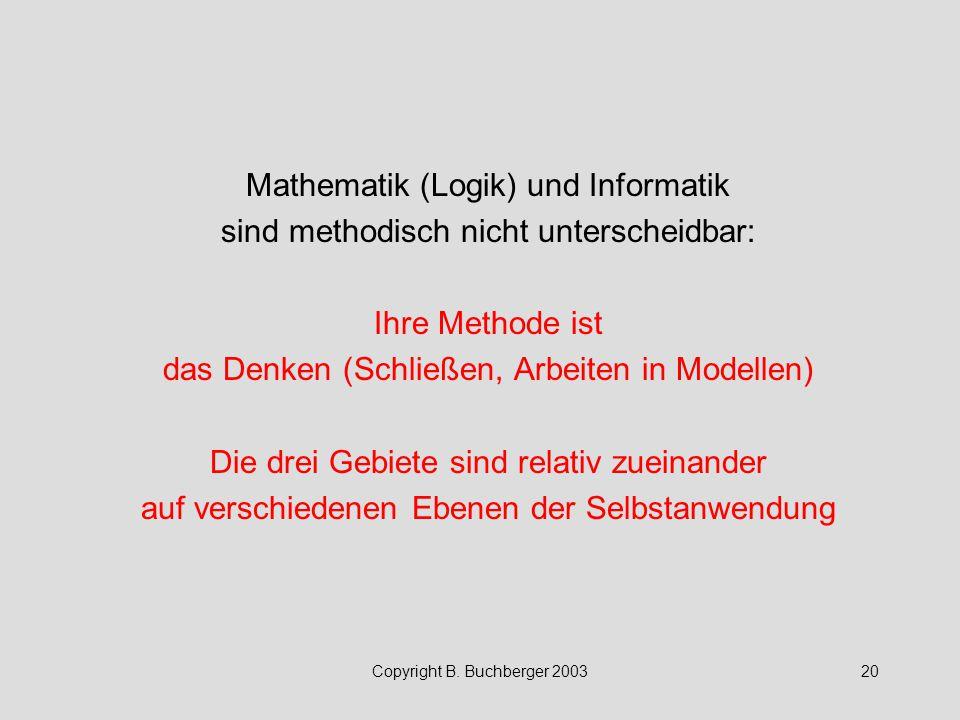 Mathematik (Logik) und Informatik