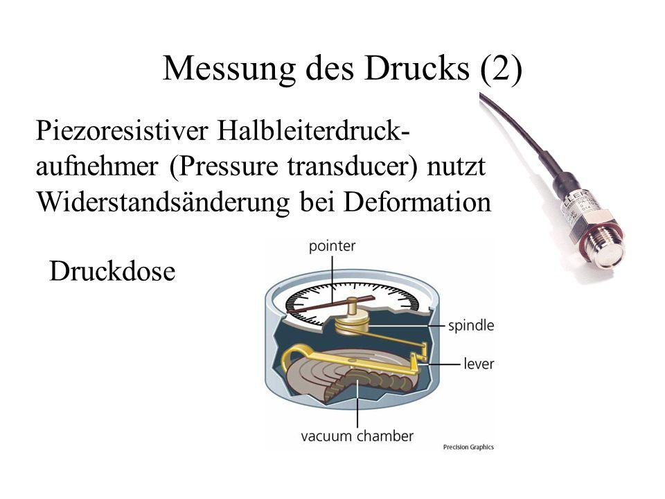 Messung des Drucks (2) Piezoresistiver Halbleiterdruck-