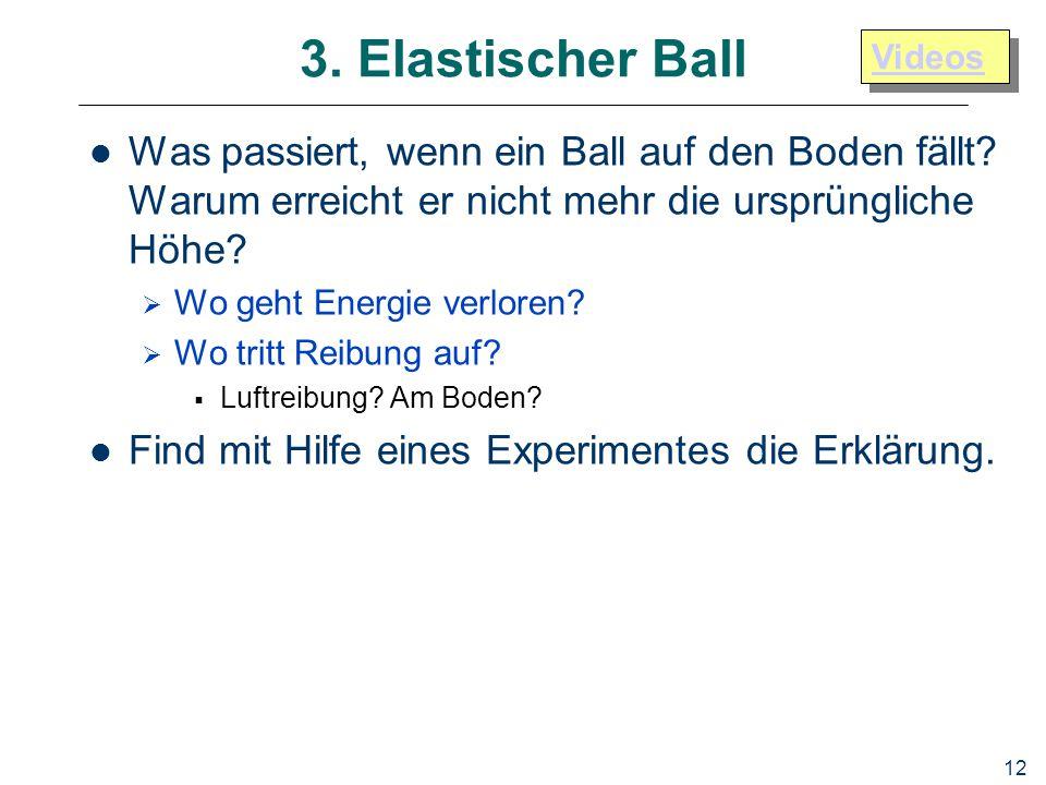3. Elastischer Ball Videos. Was passiert, wenn ein Ball auf den Boden fällt Warum erreicht er nicht mehr die ursprüngliche Höhe