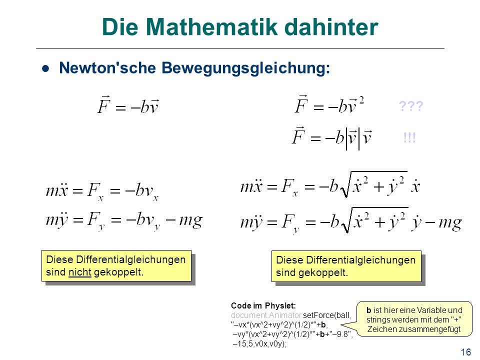 Die Mathematik dahinter