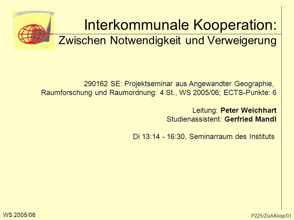 Interkommunale Kooperation: Zwischen Notwendigkeit und Verweigerung